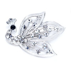 $12.49 Use a brooch to accessorize your favorite outfit or spice up apparel that just needs some extra kick. The Pugster Elegant April Birthstone Peacock Brooch is Peacock. This Pugster brooch is perfect to give a fun, artistic flair to whatever it is that you are wearing. Pugster created each brooch for people who love high quality handcrafted jewelry with a price that is sure to make you smile. This brooch fastens securely with a metal pin clasp...
