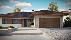 Projekt domu Z301 Parterowy dom z garażem na 2 auta, wygodnymi sypialniami i dużym tarasem