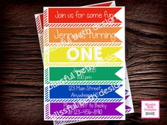 Printable Rainbow Birthday Invitations ~ Baseball birthday invitation baseball birthday invitation