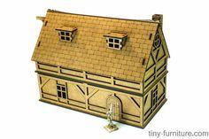 Laser cut fantasy terrain: Merchant house unpainted