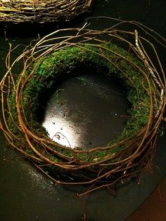 moss and stick wreath