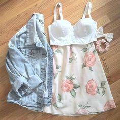 Ariana Grande inspiration outfit..bring out the girly and floral side!!