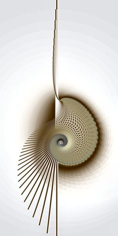 This image really well shows Asymmetrical balance, as the object's various spokes make for an asymmetrical image, yet the white space around the asymmetrical image gives it a feeling of being visually balanced. In Balance by titiavanbeugen on deviantART Fractal Design, Fractal Art, Fractal Tattoo, Fractal Geometry, Sacred Geometry Art, Mandala Tattoo Mann, Asymmetrical Balance, Arte Linear, Instalation Art