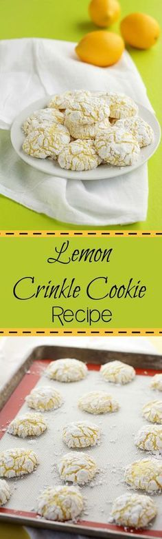 Lemon Crinkle Cookie Recipe | The Bearfoot Baker