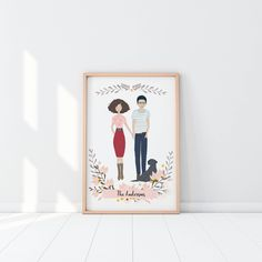 Custom Portrait Digital File, Custom Illustrations, Anniversary Gift, Wedding Gift, Christmas Gift, Family Portraits, Custom Portraits, by RoseEndCreations on Etsy https://www.etsy.com/listing/554590690/custom-portrait-digital-file-custom