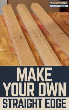A straight edge is an invaluable tool in your woodworking shop. Unfortunately, buying a quality straight edge can be very expensive. Here's how to avoid that expense by building your own shop-made straight edge. The key is taking three different boards and using each as a reference to make sure you end up with three perfectly straight edges.