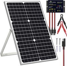 SOLPERK Solar kit is the best product on our list thanks to the high value-for-money it provides to its customers. It's strong, durable, weather-resistant, and comes with a 12-month warranty. It also comes in a reasonable price range. Regarding its usage, this solar charger can be used will multiple battery types and provides reverse charge protection to increase their shelf life. 100 Watt Solar Panel, 12v Solar Panel, Solar Panel Kits, Lead Acid Battery Charger, Solar Panel Charger, Solar Car, 10 Years, Range, Shelf Life