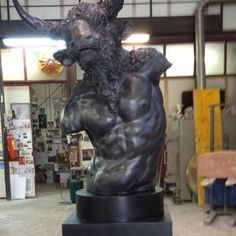 #PaolaCrema Bronze Minotaurus #FienilArte Social Art Gallery Pietrasanta