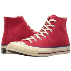 10e46f9ebcc8 Converse Chuck Taylor(r) All Star(r) 70s Hi (Red Blue Egret) Shoes ( 85) ❤  liked on Polyvore featuring shoes