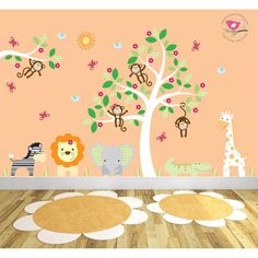 http://www.ruggabub.com.au/nursery/deluxe-safari-white-right/ Captivate your child's imagination with our exclusive luxury self adhesive fabric wall art designs