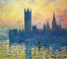 Houses of Parliament in Winter by Claude Monet ... | Lone Quixote