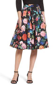 New Eliza J Floral Midi Skirt, Ivory Lace Cameo fashion dress online. [$148]>>newtstyle Shop fashion 2017 <<