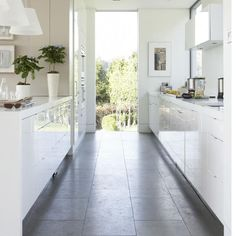 The kitchen as space on the way to garden, avoiding all personality or identity, is this good or bad..