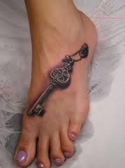 Image result for locket and key tattoo designs