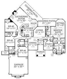 #floorplan #onestory First Floor Plan of House Plan 53523