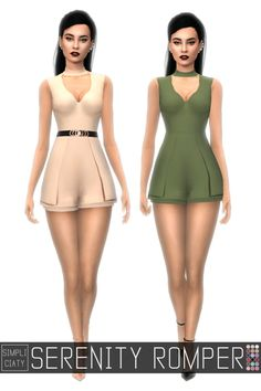 SERENITY ROMPER at Simpliciaty via Sims 4 Updates
