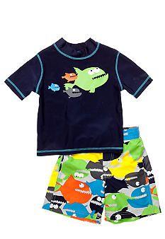 Carter's® Piranha 2-Piece Swim Set Toddler Boys #belk #kids
