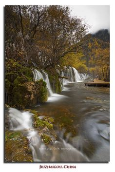 Arrow Bamboo Falls in Jiuzhaigou Valley National Park located north of Sichuan Province in China