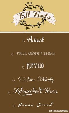 Kids are going back to school any day now and so fall is definitely in the air! Kori, our resident graphic designer on the Creative Team, is here to share her favorite {FREE!} fall fonts with us today. I'm swooning over the Admiration Pains font for