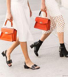 Fashion Accessories | So Sensible handbag | orange handbag | slipon sandals  | ankle boots  | fashion edit  |  Garance Doré @monstylepin