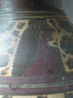 Olpé - Peintre de l'Anodos - Corinthe - vers 600 - 590 av. J.C Protomé féminine (Anodos?) et ronde de femmes. - galerie campana - Louvre.