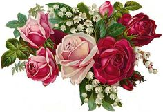 ChiC LuSh PinK & ReD RoSeS BouQueT ShaBby DeCALs