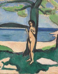 """"""" Henri Matisse (1869-1954) Nu au bord de la mer (1909) oil on canvas 61.2 x 50 cm """""""