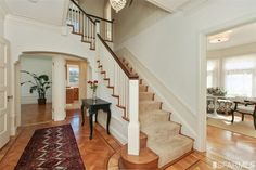 1924 staircase. 66 Sotelo, San Francisco, CA 94116 (MLS #426002) #FoundOnRedfin