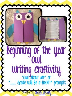 Back to School Owl  Writing Craftivity from Briana Beverly on TeachersNotebook.com -  (21 pages)  - A fun and student-friendly project for the Beginning of the Year! Get to know your students and create an adorable bulletin board display for Open House.
