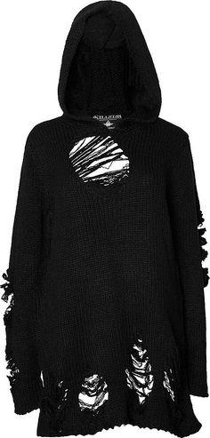 Killstar - Nu-War Knit Hoodie - Buy Online Australia Beserk