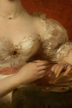 Portrait of Mary Anne Bloxam (later Mrs. Frederick H. Hemming) by Thomas Lawrence, c. 1825 (detail)