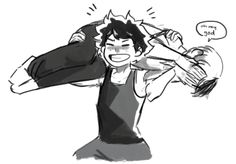 if he could carry all might while training, todoroki should be nothing to him