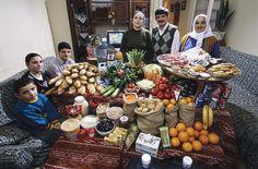 Недельный рацион семьи в разных странах мира (21 фото)