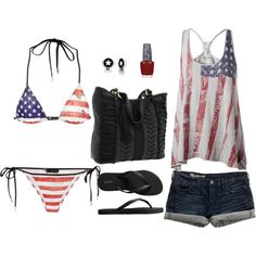 fourth of july beach outfit dif bikini