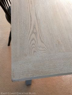 East Coast Creative: Whitewashed dining room table using Annie Sloan Chalk Paint (Pure White)