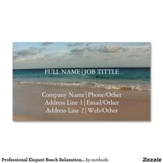 Professional Elegant Beach Relaxation Spa Travel Business Card