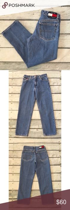 0e664e075dd Tommy Hilfiger denim jeans vintage 90 s relaxed 9 Preowned Tommy Hilfiger  jeans 90 s vintage denim relaxed