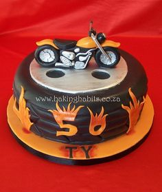 Harely Davidson and Tyre Cake by BakingHabits, via Flickr