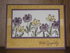 CAS Sympathy #2 by CheeseHeadInCA - Cards and Paper Crafts at Splitcoaststampers
