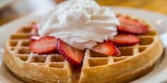 Overnight Brown-Butter Waffles - Do you need healthy and delicious recipes? Our selection of nutritional recipes are sure to satisfy. Breakfast, lunch, dinner, dessert and snacks, are sorted. Keto Waffle, Waffle Toppings, Waffle Recipes, International Waffle Day, Lemon Whipped Cream, Good Food Image, Balanced Breakfast, Recipe Images, Brown Butter