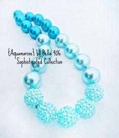 Children's Chunky Bead Necklace Bubblegum Bead by Bella406 on Etsy, $24.99 Beautifulllll <333