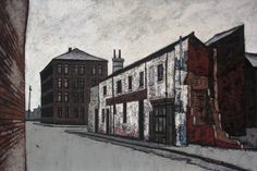 """""""Old Factory, Claypit Lane, Leeds"""" by Stuart Walton, (oil on board) Old Factory, Leeds, Buildings, Landscapes, British, Industrial, England, Paintings, Oil"""