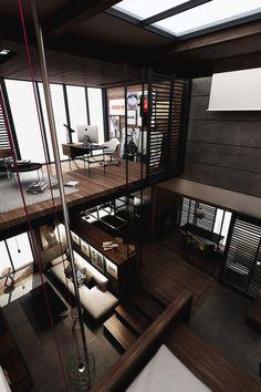 Best Ideas For Modern House Design & Architecture : – Picture : – Description Loft Design by the Urbanist Lab Loft Design, Design Case, Design Design, Modern Interior Design, Interior Design Inspiration, Fashion Inspiration, Style At Home, Moderne Lofts, Architecture Design