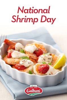 In need of a savory shellfish dish to celebrate the day? Our Roasted Shrimp Caprese—complemented with Galbani Fresh Mozzarella—delivers a seafood dish designed to delight. 🍤😋🍤 Shrimp Recipes Easy, Seafood Recipes, Roasted Shrimp, Italian Cheese, Dried Cherries, Fresh Mozzarella, Seafood Dishes, Cherry Tomatoes, Easy Meals