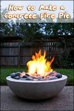 Have a great looking fire pit at a fraction of the cost of a commercially produced one by making it yourself! Is this going to be your next project?