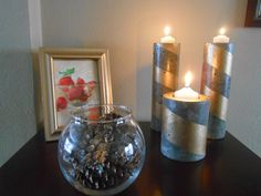 Sproutsandstuff: DIY Concrete Candle Holders from Pringle and Coffee Cans #diy #decor #concrete