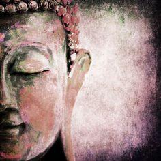 Pink Buddha Abstract