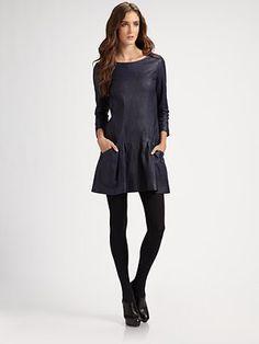 Theory Salindra Leather Dress