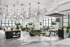 Shake Shack Renovates a Print Building for New York City Headquarters - Design Milk Burger phenom Shake Shack enlisted Michael Hsu Office of Architecture to renovate an old print buil Office Space Design, Modern Office Design, Workspace Design, Office Interior Design, Office Interiors, Commercial Office Design, Modern Offices, Corporate Interiors, Word Office