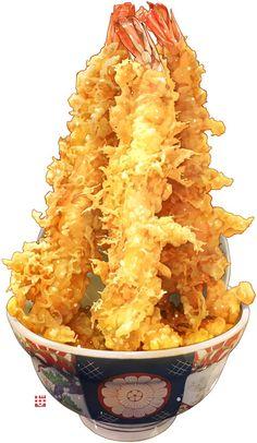 shrimp tempura illustration